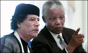 Evil has no specific colour, Mandela and Gaddafi