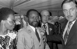 Samora Machel and Pik Botha