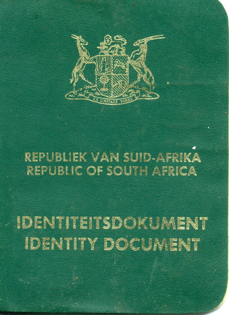 South African ID Book.